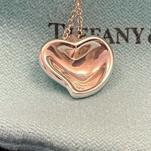 💎HOST PICK💎Tiffany & Co. Curved Heart Pendant Necklace
